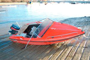 Undated handout file photo issued by the Metropolitan Police of the speedboat owned by Web designer Jack Shepherd who was found guilty of killing his date, Charlotte Brown, in an accident on the Thames Metropolitan Police/PA Wire