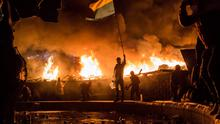 Protesters battle police in intense clashes in Ukraine