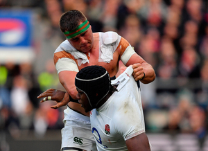 CJ Stander,tusseling Maro Itoje, will retain his place but it won't be at No 8. Photo by Brendan Moran/Sportsfile
