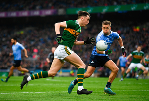 David Clifford of Kerry in action against Jonny Cooper of Dublin in the Allianz Football League last March