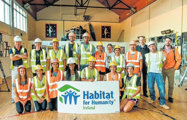 Students from the University of Central Florida started work yesterday refubishing the Lourdes Community Hall on Sean McDermott Street in Dublin as part of the Croke Park Classic Community Project. Photo: Barry Cregg