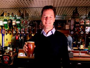 Liberal Democrat Party leader Nick Clegg pictured at the Pentland Hotel, Thurso, Scotland, on the last day of the General Election campaign. Photo: PA