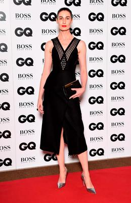 Erin O'Connor attends the GQ Men Of The Year Awards at The Royal Opera House