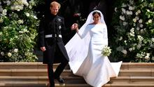 Britain's Prince Harry, Duke of Sussex and Meghan, Duchess of Sussex exit St George's Chapel in Windsor Castle after their royal wedding ceremony,  in Windsor, Britain, May 19, 2018. NEIL HALL/Pool via REUTERS