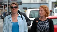 Jennifer and Erika Price arrive at the inquest into the death of their mother Janet Price. Picture: Don MacMonagle