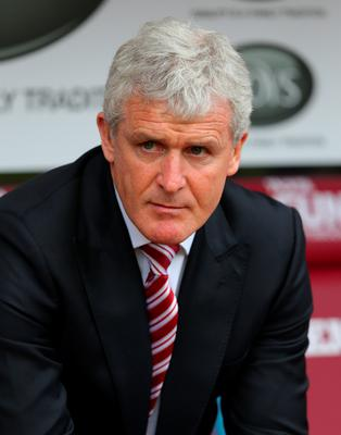 Stoke manager Mark Hughes saw his side secure their highest ever Premiership points tally