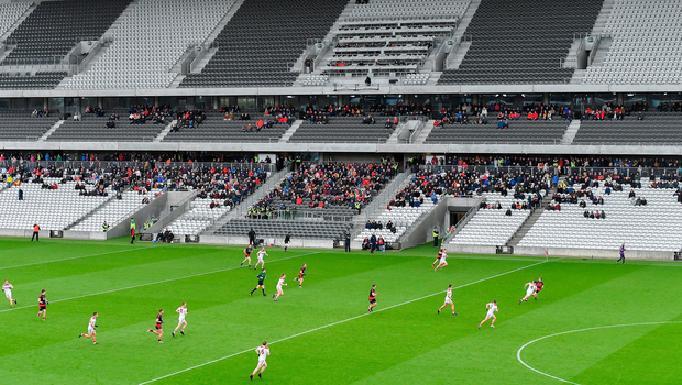 1,658 supporters braved the weather to watch 13-man Cork make it three wins in a row in this year's league campaign. Photo by Piaras Ó Mídheach/Sportsfile