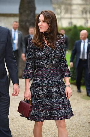 Catherine, Duchess of Cambridge and Prince William, Duke of Cambridge (not in picture) visit Les Invalides military hospital during an official two-day visit to Paris on March 18, 2017 in Paris, France. (Photo by Tim Rooke-Pool/Getty Images)