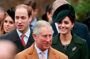 KING'S LYNN, ENGLAND - DECEMBER 25:  (L-R) Prince William, Duke of Cambridge, Prince Charles,Prince of Wales, Catherine, Duchess of Cambridge and Camilla, Duchess of Cornwall attend a Christmas Day church service at Sandringham on December 25, 2015 in King's Lynn, England.  (Photo by Chris Jackson/Getty Images)