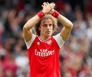 David Luiz faces his former club Chelsea today as Arsenal bid to win another FA Cup final. Photo: Reuters