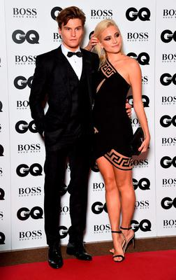 Oliver Cheshire and Pixie Lott attend the GQ Men Of The Year Awards at The Royal Opera House on September 8, 2015 in London, England.  (Photo by Gareth Cattermole/Getty Images)