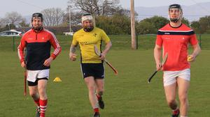 Louth hurlers training in Darver