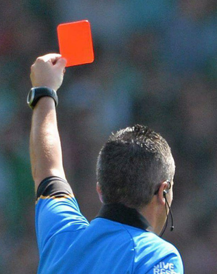 'A penalty can now be awarded against a player who is off the field of play and commits a direct free-kick offence.' (Stock photo)