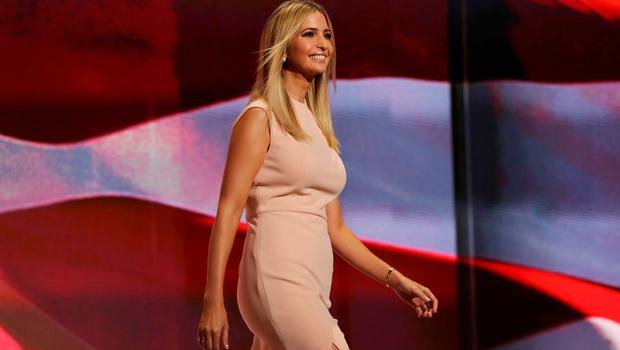 Ivanka Trump walks on stage to deliver a speech during the evening session on the fourth day of the Republican National Convention on July 21, 2016 at the Quicken Loans Arena in Cleveland, Ohio.