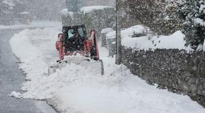 Footpaths are cleared in Kildare Town, Co Kildare - Niall Carson/PA Wire 1/3/2018