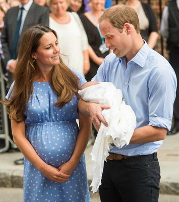Kate Middleton and Prince William introduce Prince George to the world
