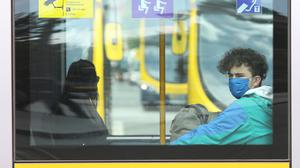 The Government have advised against using public transport where possible as coronavirus cases are on the rise once more. Photo: Garrett White/Collins Photo agency