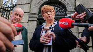 Quest for the truth: Paul Quinn's parents Breege and Stephen Quinn outside Leinster House, Dublin, this week. Photo: Gareth Chaney/Collins