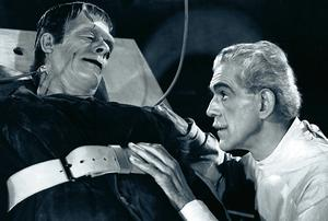 SEWN UP: Glenn Strange as the monster and Boris Karloff as the doctor deliver an interesting take on medical stitch-ups in 1944's 'House of Frankenstein'. Last week's swingeing health insurance price rises were just as monstrous