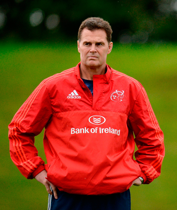 Munster director of rugby Rassie Erasmus has his work cut out this week as he and his players try to pick up the pieces following the death of Anthony Foley. Photo by Seb Daly/Sportsfile