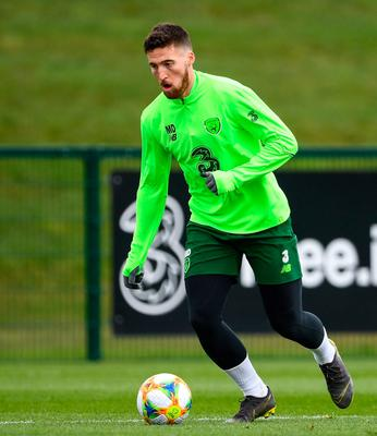 FAITH: Matt Doherty in action during a Republic of Ireland training session at the FAI National Training Centre in Abbotstown. Photo: Stephen McCarthy/Sportsfile