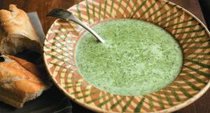 Watercress soup makes a healthy supper with some crusty bread.