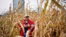 FILE PHOTO: Jeff Gormong stands in a corn field on his farm near Terre Haute, Indiana, U.S. October 29, 2019. Picture taken October 29, 2019. REUTERS/Bryan Woolston/File Photo