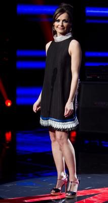 Sharon Corr  during the Fourth Live Show of The Voice of Ireland in The Helix.