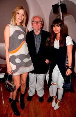 Elena Perminova, Pierre Cardin and Miroslava Duma attend the Dior Croisiere 2016 at Palais Bulle on May 11, 2015 in Theoule sur Mer, France.  (Photo by Pascal Le Segretain/Getty Images for Dior)