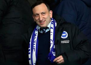 Brighton chairman Tony Bloom doesn't expect a definitive update from today's Premier League meeting. Photo: PA Wire