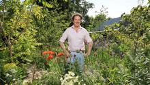 Diarmuid Gavin pictured in his garden at his home at Kilmacanogue, Co Wicklow.Picture Credit:Frank McGrath