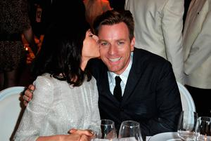 Actor Ewan McGregor (R) and Eve Mavrakis attend the exclusive Filmmakers Dinner during the Cannes International Film Festival hosted by Swiss watch manufacturer IWC Schaffhausen in partnership with Finch's Quarterly Review at the famous Hotel du Cap-Eden-Roc on May 21, 2012 in Cap d'Antibes, France.  (Photo by Andreas Rentz/Getty Images  for IWC)