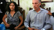 Naghemeh and Brett King, parents of Ashya King, attend a news conference in Seville Photo: Reuters