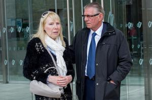Sinead Maguire's mother Lillian Maguire and her father Raymond Maguire outside court after Eric Wansboro received a eight and a half year jail sentence at Dublin Circuit Criminal Court, Monday 18-05-2015. Pic: Court Collins.