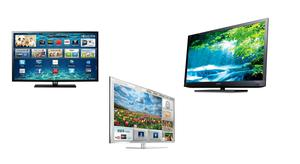 """From left: Samsung 40"""",  Panasonic 42"""" and Sony 40"""""""