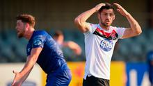 Patrick Hoban of Dundalk reacts after a missed chance