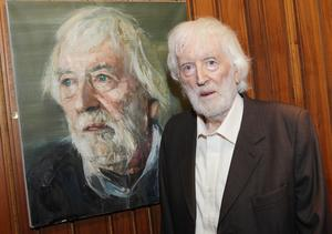 The late Tom MacIntyre in the Abbey Theatre, Dublin in 2013. Credit: Abbey Theatre. Pictures:Brian McEvoy