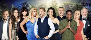 The line-up for this year's 'I'm A Celeb' - Nadia Forde is second from left. Pic: ITV