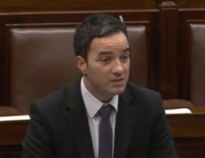 John Lyons speaks in the Dáil