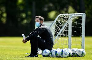 Shamrock Rovers manager Stephen Bradley during a training session at Roadstone Group Sports Club in Dublin. Photo by Seb Daly/Sportsfile