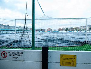 A general view of the pitch at Rossett Park. Photo: PA