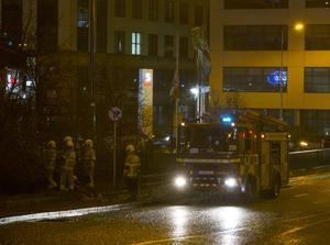 Gardai investigate a shooting at flats on the North Strand road in DublinPicture: Arthur Carron