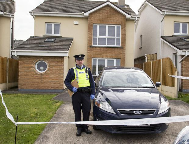A garda at the house where Stephen Kavanagh was knifed after a row in the early hours