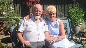 Cousins Anthony Browne and Cathy Bird pictured in Dunstable in the UK last weekend