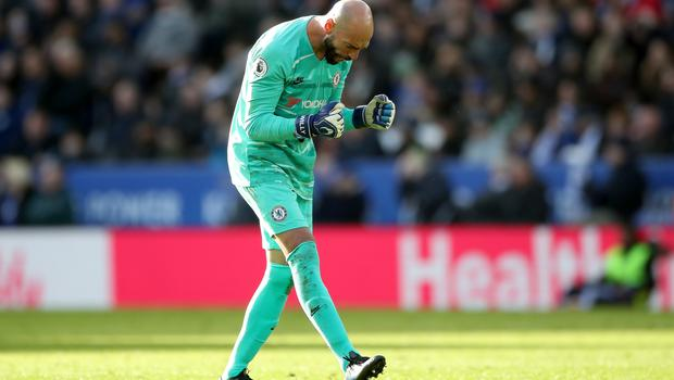 Willy Caballero started for Chelsea at Leicester (Nick Potts/PA)