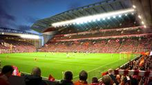 Undated handout computer generated image provided by Liverpool FC of a general view of their proposed stadium expansion plans