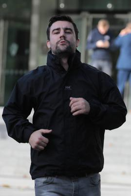 Accused: Michael Quinn outside court. Photo: Collins