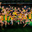 West is best: Corofin players celebrate their extra-time victory against Kilcoo at Croke Park yesterday. Photo: Piaras Ó Mídheach/Sportsfile