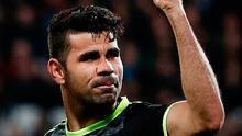Diego Costa celebrates scoring the second goal for Chelsea Photo: ADRIAN DENNIS/AFP/Getty Images