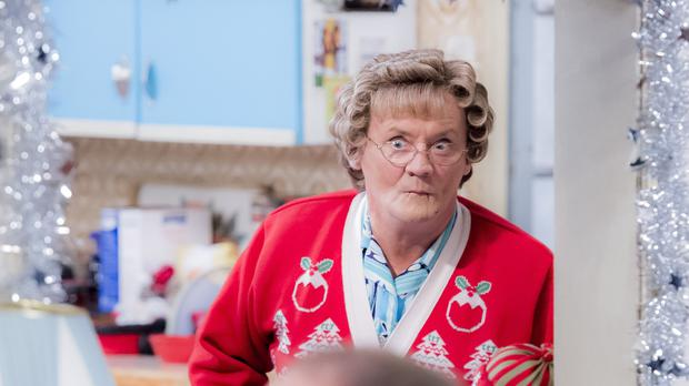 Brendan O'Carroll as Mrs Brown in the Mrs Brown's Boys Christmas and New Year Special 2016 (BBC/PA)